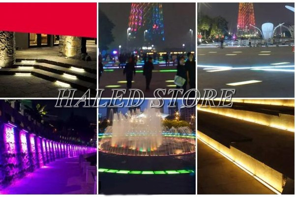 Ứng dụng chiếu sáng của đèn LED âm đất HLDAUG3-7 RGB
