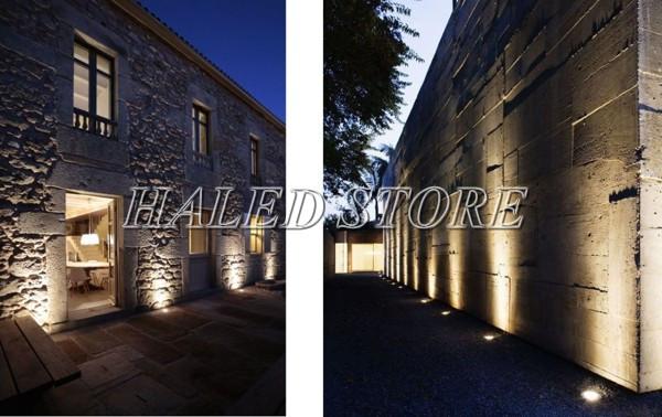 Ứng dụng chiếu sáng của đèn LED âm đất HLDAUG2-5 RGB