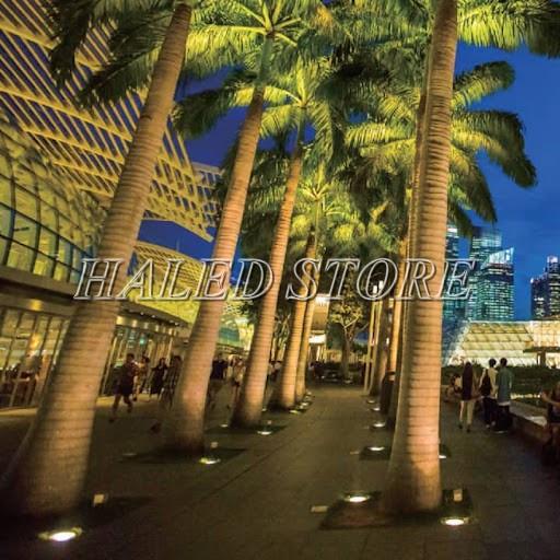 Ứng dụng chiếu sáng của đèn LED âm đất HLDAUG4-5 RGB