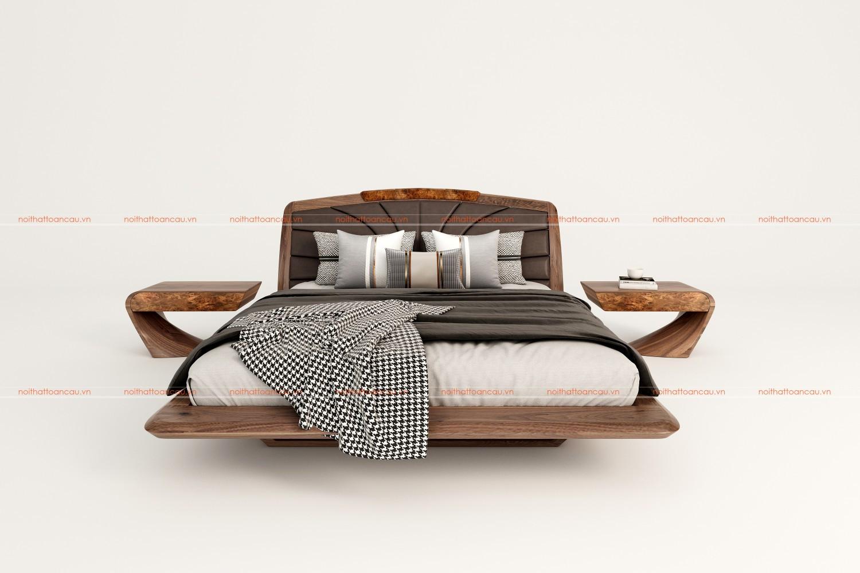 Giường ngủ gỗ óc chó 2021 a