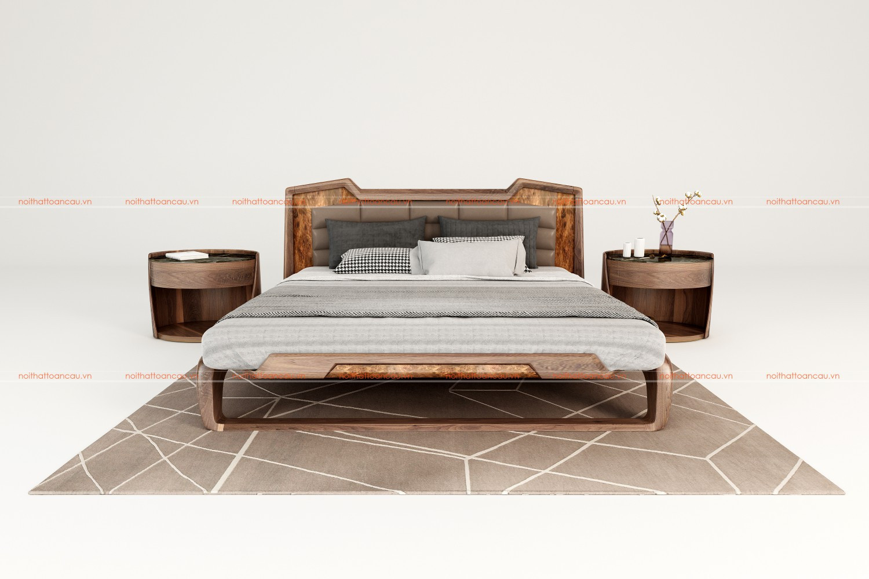 Giường ngủ gỗ óc chó 1160 a
