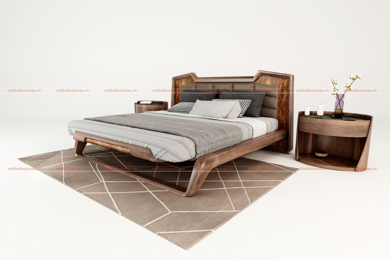 Giường ngủ gỗ óc chó 1160 d