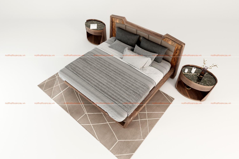 Giường ngủ gỗ óc chó 1160 b