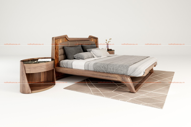 Giường ngủ gỗ óc chó 1160  c
