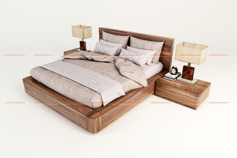 Giường hộp gỗ Óc chó TC1167