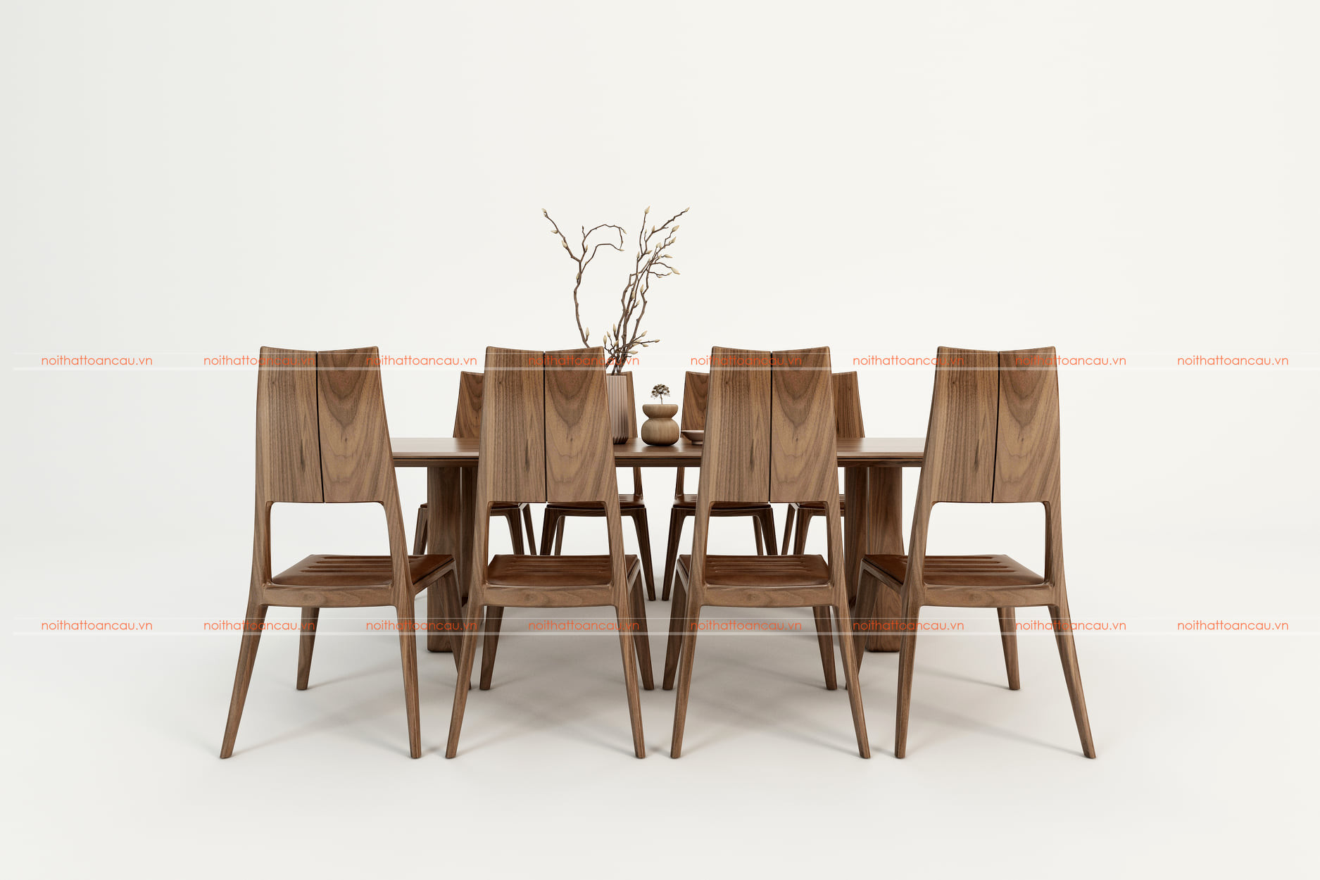 Bàn ghế ăn gỗ óc chó tự nhiên tc811c