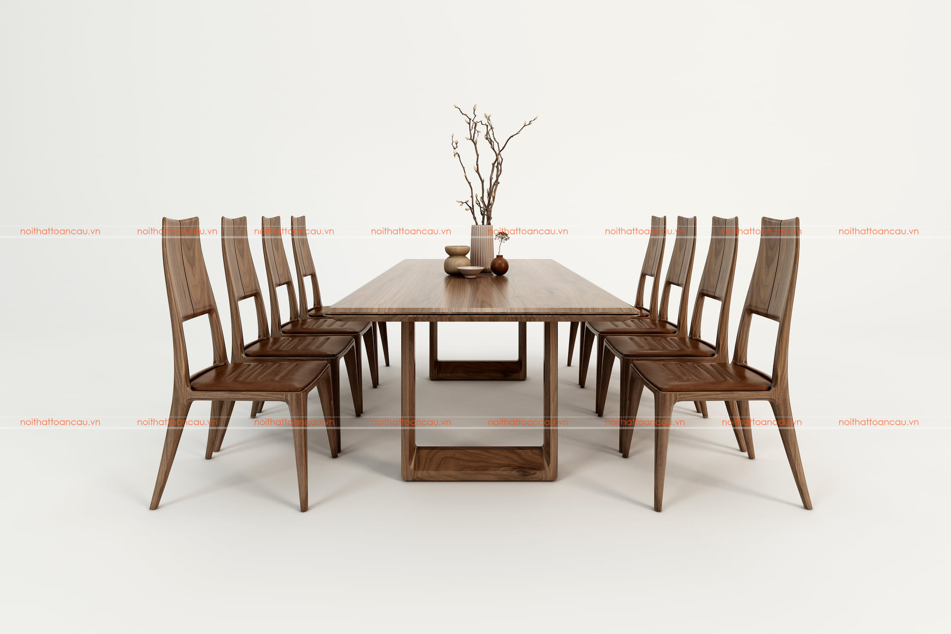 Bàn ghế ăn gỗ óc chó tự nhiên tc811 b