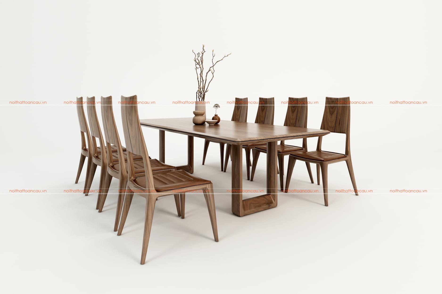 Bàn ghế ăn gỗ óc chó tự nhiên tc811 d