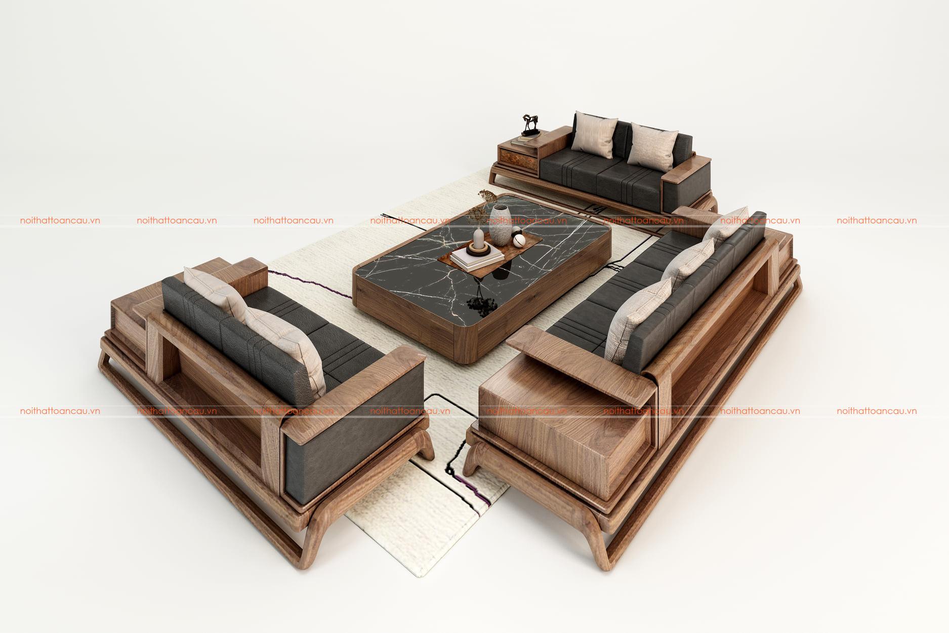 Mẫu salon gỗ óc chó - TC038c