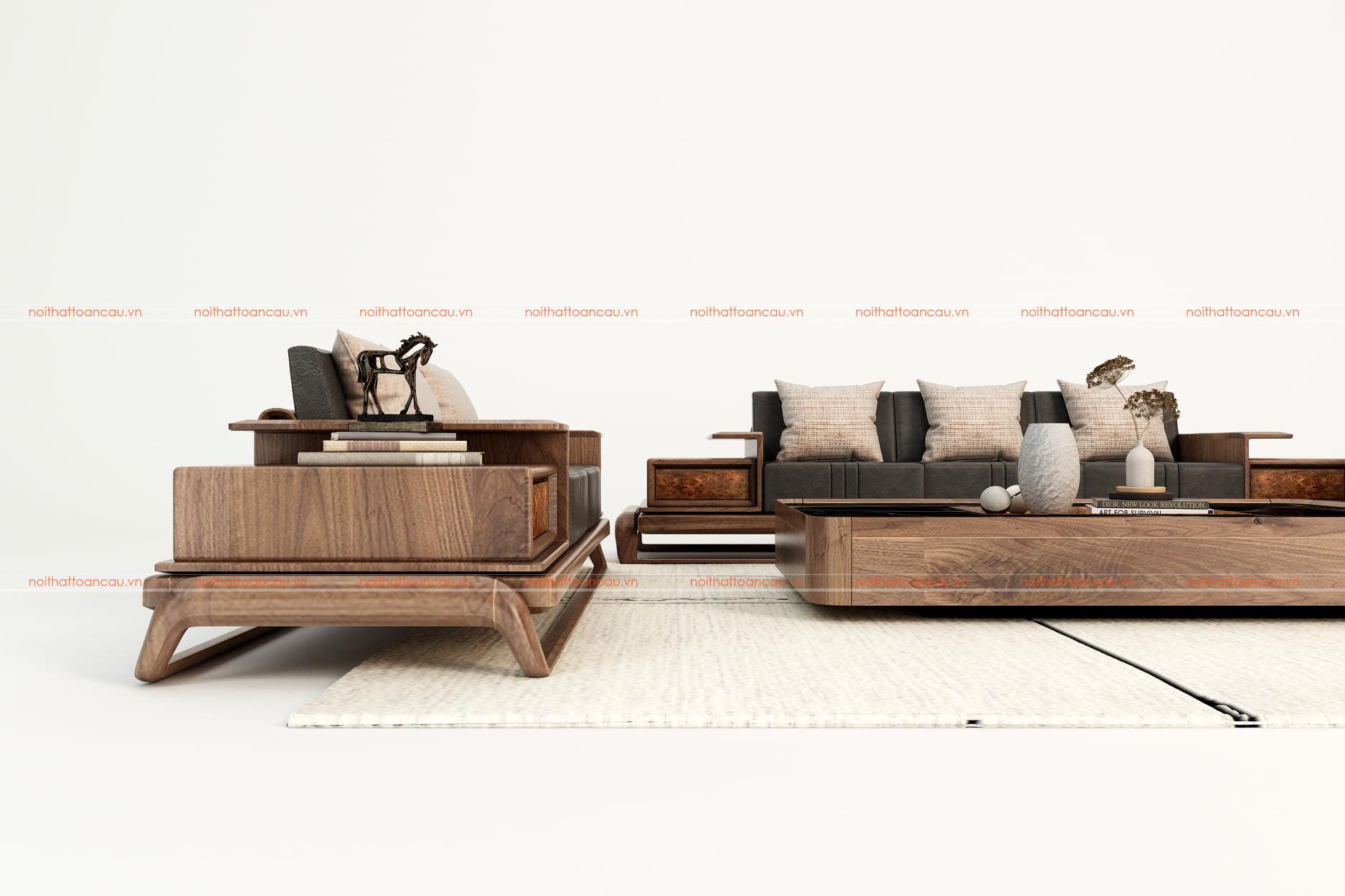 Mẫu salon gỗ óc chó - TC038d