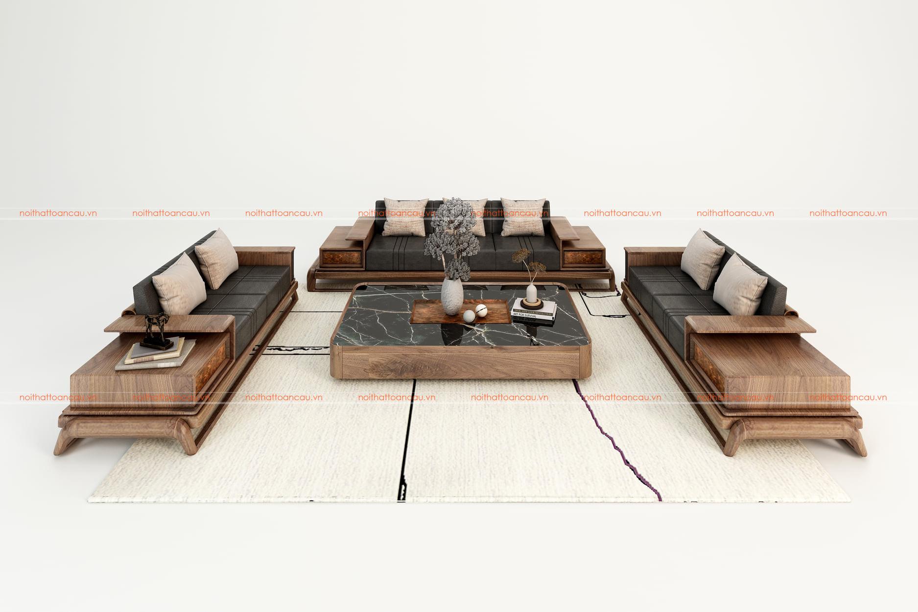Mẫu salon gỗ óc chó - TC038a